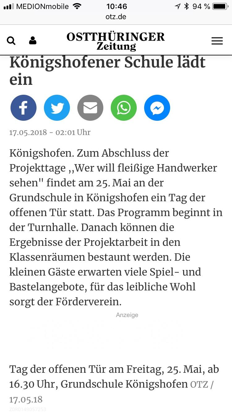 Königshofener Schule lädt ein